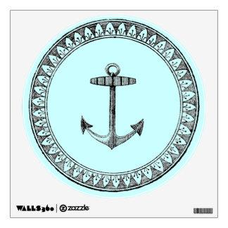 Vintage Nautical Anchor Medallion Wall Skins