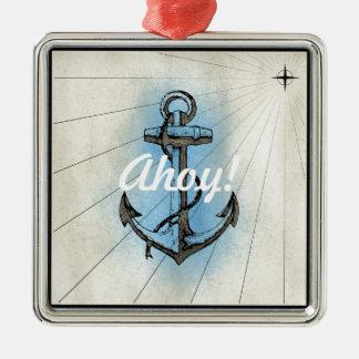 Vintage Nautical Anchor Metal Ornament