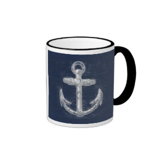 Vintage Nautical Anchor Coffee Mug