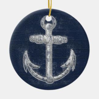 Vintage Nautical Anchor Christmas Ornament