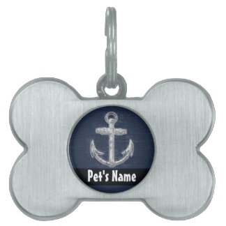 Vintage Nautical Anchor Pet ID Tags
