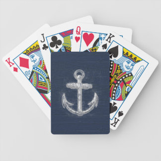 Vintage Nautical Anchor Deck Of Cards