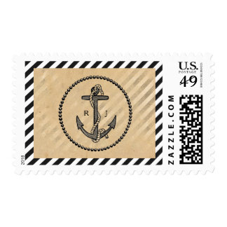 Vintage Nautical Anchor - Postage Stamp