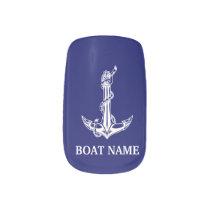 Vintage Nautical Anchor Rope Boat Name Minx Nail Art