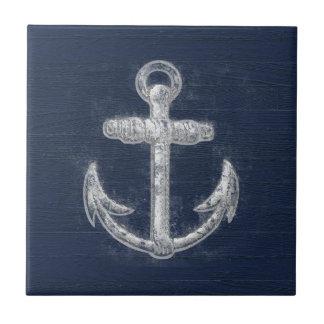 Vintage Nautical Anchor Ceramic Tiles