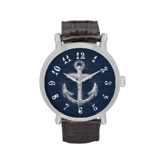 Vintage Nautical Anchor Watches