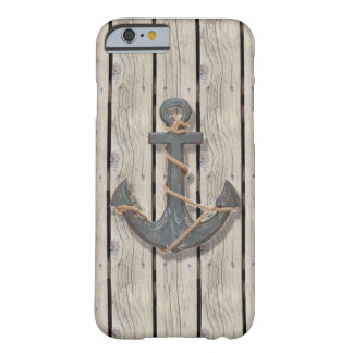 vintage nautical beach anchor rustic driftwood barely there iPhone 6 case