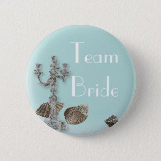 vintage nautical beach seashell wedding pinback button