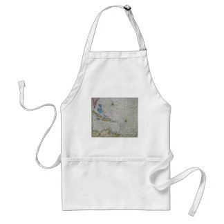 Vintage Nautical Chart Of The Caribbean Aprons