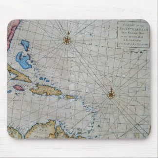 Vintage Nautical Chart Of The Caribbean Mouse Pad