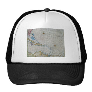 Vintage Nautical Chart Of The Caribbean Trucker Hat