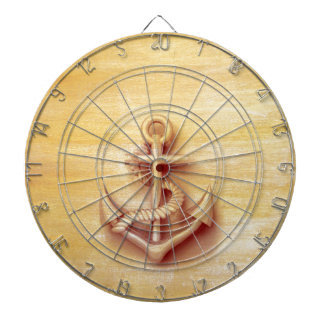 Vintage nautical classy anchor dartboard with darts
