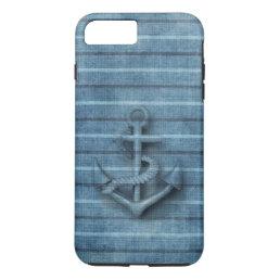 Vintage nautical classy anchor iPhone 8 plus/7 plus case