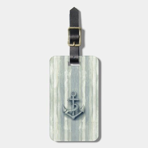 Vintage nautical classy anchor tag for bags