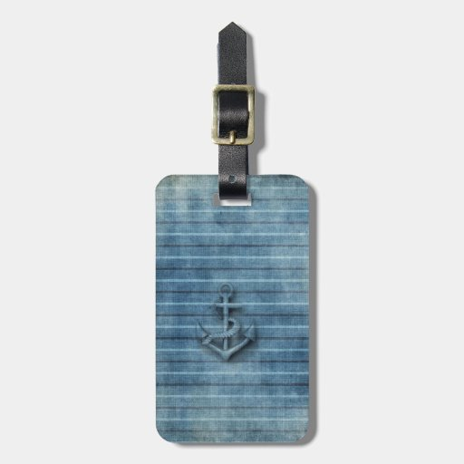 Vintage nautical classy anchor tags for bags