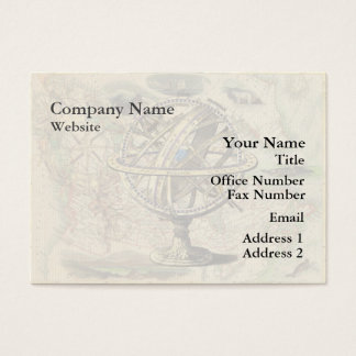 Vintage Nautical Compass and Map Business Card