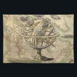"""Vintage Nautical Compass and Map Cloth Placemat<br><div class=""""desc"""">Vintage Nautical Compass and Map. You Can Customize This with Your Own Image and Text to Create a One-of-a-Kind Product!</div>"""