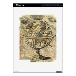 Vintage Nautical Compass and Map iPad 3 Skins