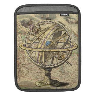 Vintage Nautical Compass and Map iPad Sleeve