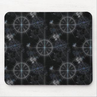 Vintage nautical compass dials dark blue pattern mousepad