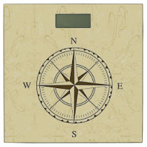 Vintage Nautical Compass Ivory Bathroom Scale
