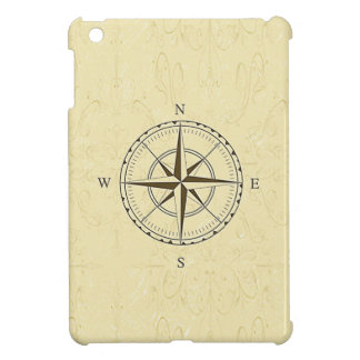 Vintage Nautical Compass Ivory iPad Mini Cover