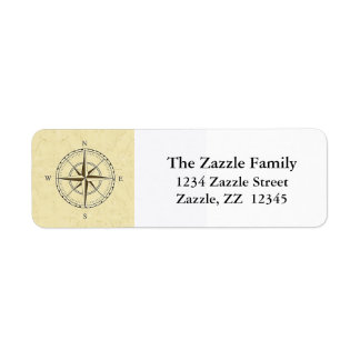 Vintage Nautical Compass Rose Ivory Label