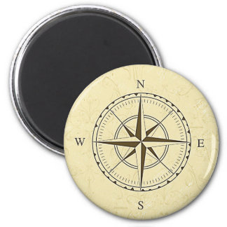 Vintage Nautical Compass Rose Ivory Magnet