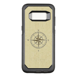 Vintage Nautical Compass Rose Ivory OtterBox Commuter Samsung Galaxy S8 Case