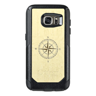 Vintage Nautical Compass Rose Ivory OtterBox Samsung Galaxy S7 Case