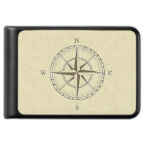 Vintage Nautical Compass Rose Ivory Power Bank