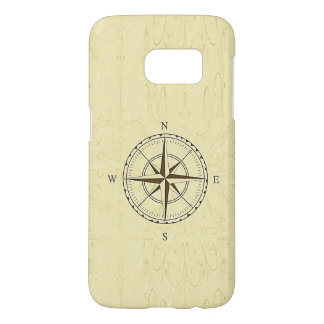 Vintage Nautical Compass Rose Ivory Samsung Galaxy S7 Case