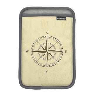 Vintage Nautical Compass Rose Ivory Sleeve For iPad Mini