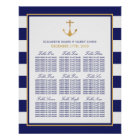Vintage Nautical Gold Anchor Wedding Seating Chart