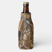Vintage Nautical Items on Beer Bottle Cooler