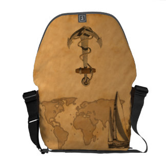 Vintage Nautical Map Courier Bags