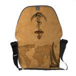 Vintage Nautical Map Messenger Bags
