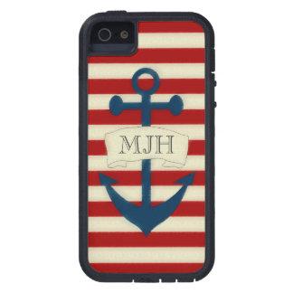 Vintage Nautical Monogram iPhone 5/5S Case