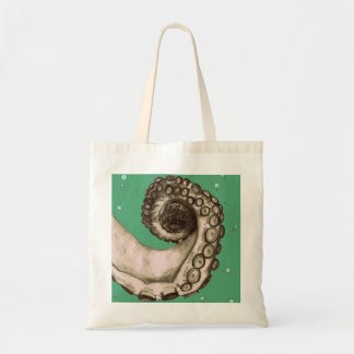 Vintage Nautical Octopus Tentacle Tattoo Art Tote Budget Tote Bag