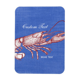 Vintage Nautical Red Lobster Custom Beach House Magnet