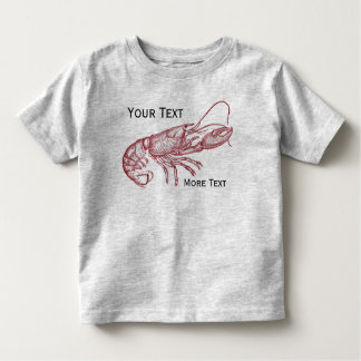 Vintage Nautical Red Lobster Custom Beach House Toddler T-shirt
