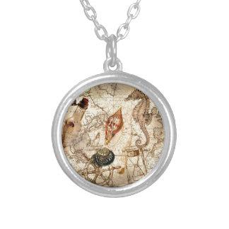 Vintage nautical seahorse anchor beach necklaces