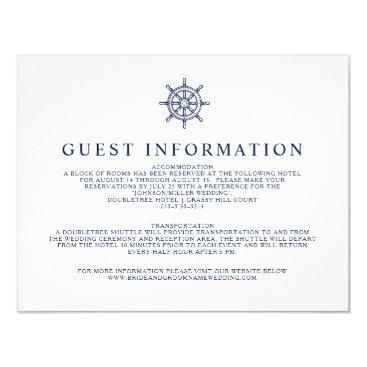 Vintage Nautical Ship Wheel Guest Information Card