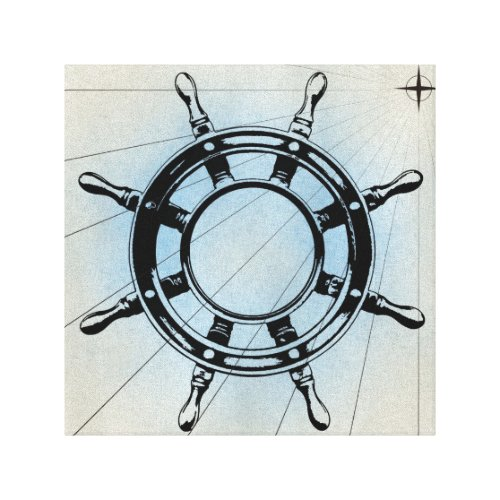 Vintage Nautical Ship's Wheel for Navigation