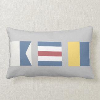 Vintage Nautical Signal Flag ACK Nantucket Pillow