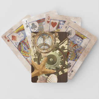 Vintage Nautical Steampunk Gears Bicycle Playing Cards