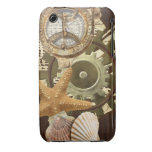 Vintage Nautical Steampunk Gears iPhone 3 Case-Mate Case