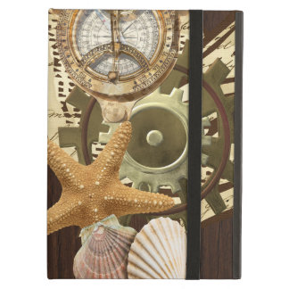 Vintage Nautical Steampunk Gears iPad Air Cover