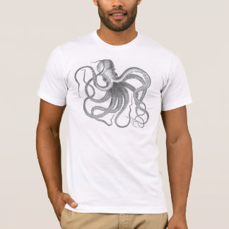 Vintage nautical steampunk octopus kraken drawing T-Shirt