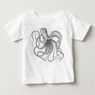 Vintage nautical steampunk octopus print tee shirt